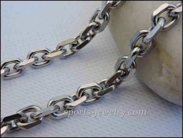 Stainless steel necklace men's brutal