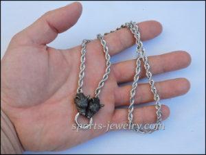 Stainless steel wolf chain necklace men women