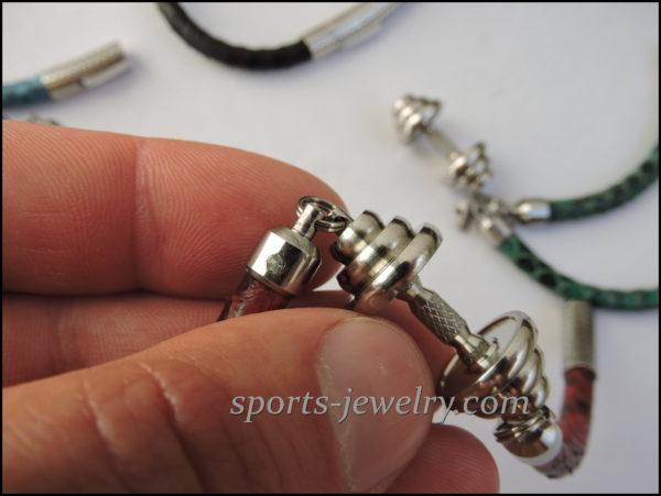 Fitness jewelry Snake leather bracelet