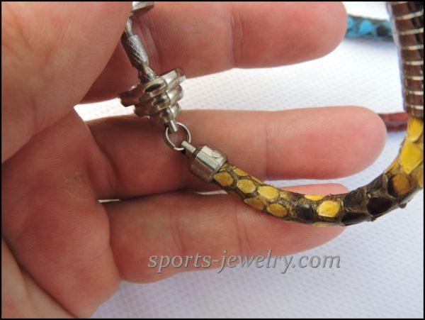 Gym gifts Snake leather bracelet