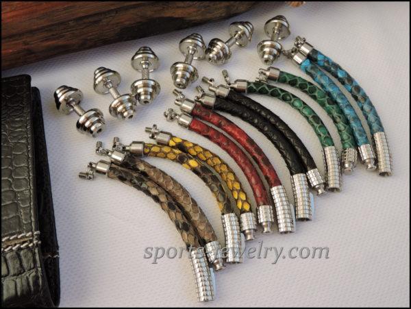 Python leather bracelet Fitness jewelry