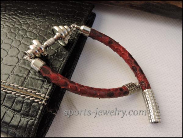 Python leather bracelet Sport jewelry