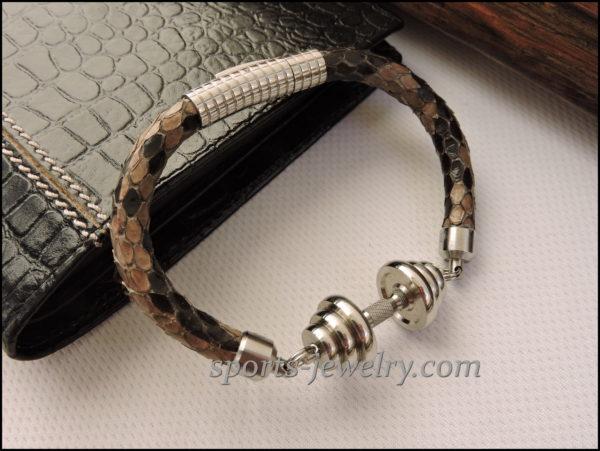 Python leather bracelet image