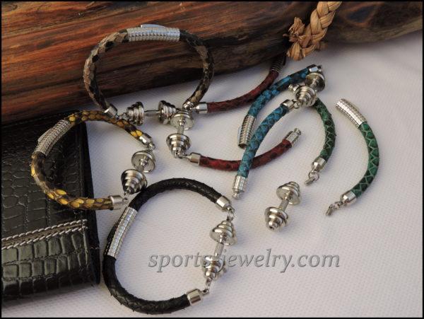 Python leather bracelet price buy