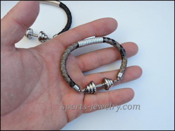 Snake leather bracelet Bodybuilding gift