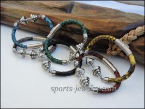 Snake leather bracelet Fitness jewelry