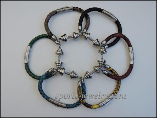 Snake leather bracelet Gym gifts