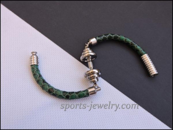 Snake leather bracelet Sport pendants