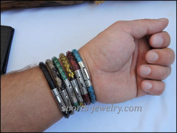 Snake leather bracelet image