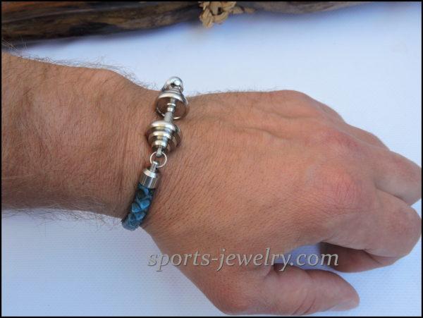 Snake leather bracelet photo