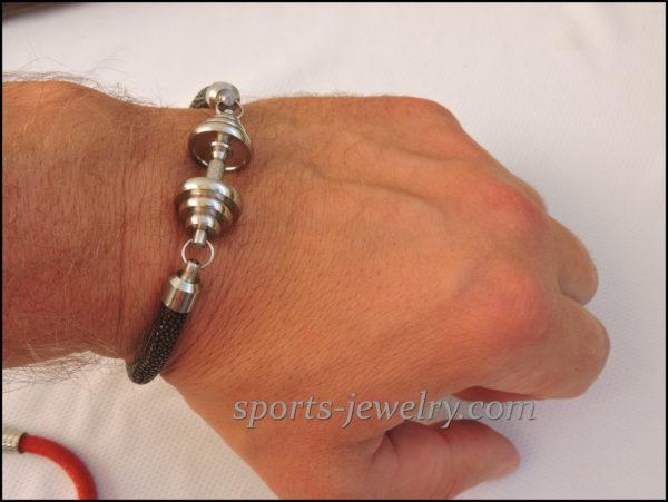 Stingray leather bracelet Fitness jewelry