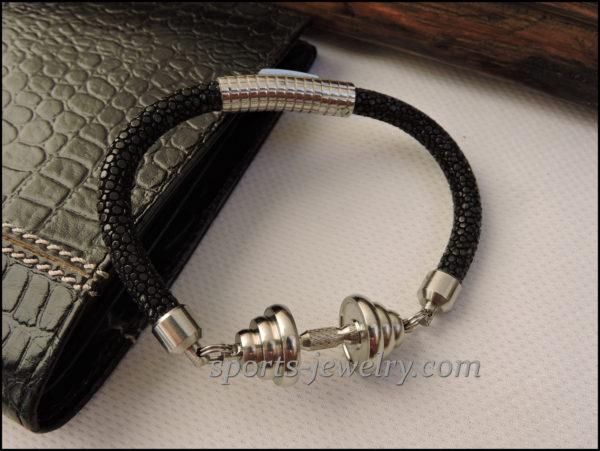 Stingray leather bracelet Gym gifts