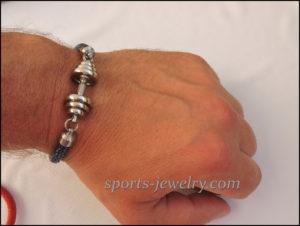 Stingray leather bracelet Sport jewelry