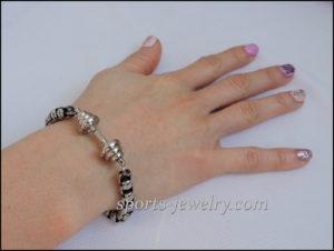 Gifts for sporty girls Dumbbell bracelet