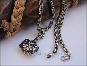 Hammer pendant Leather cord