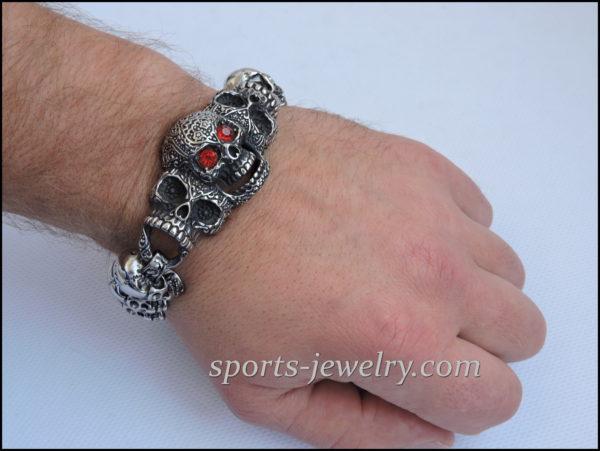 Large skull bracelet Sport jewelry