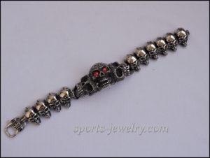 Large skull bracelet Stainless steel