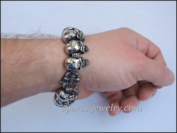 Large skull bracelet buy