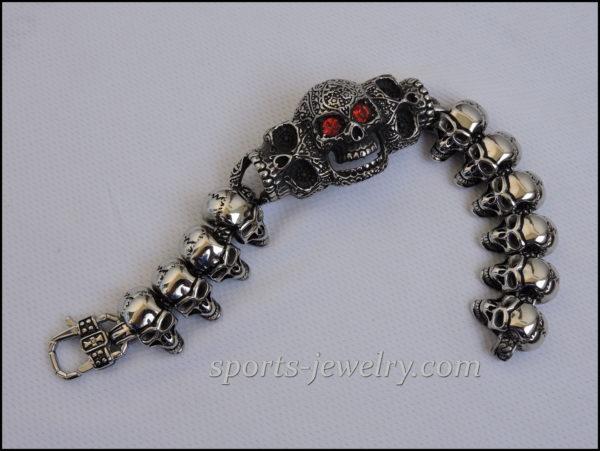 Large skull bracelet image