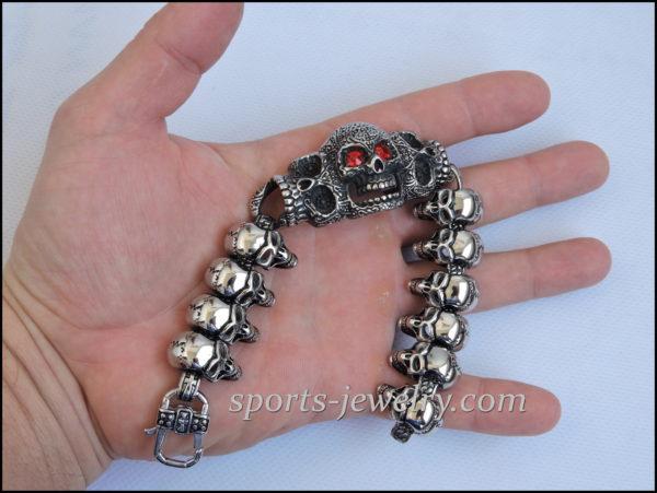 Large skull bracelet price