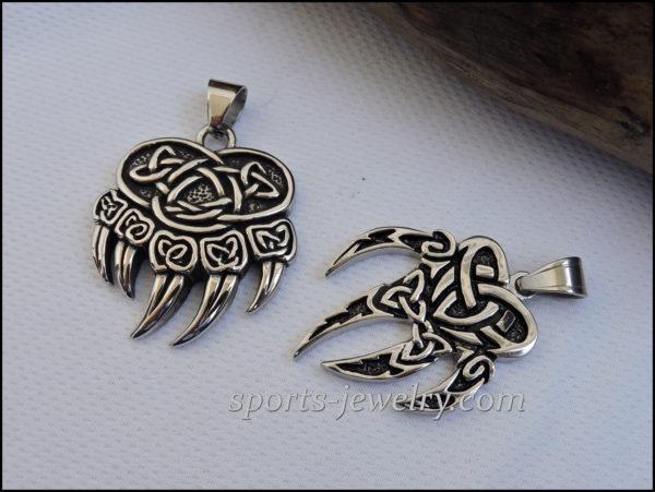 Lynx paw pendant Bear paw pendant