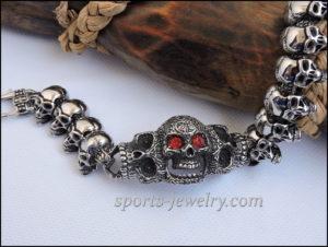 Men's Large skull bracelet