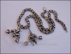 Sport jewelry Bull pendant