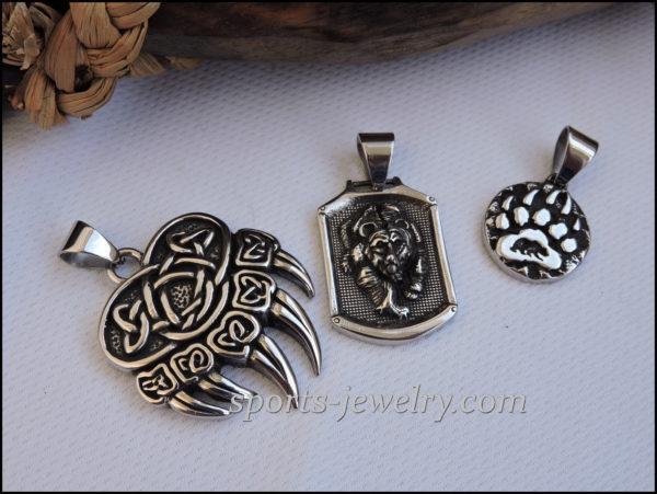 Stainless steel bear pendants