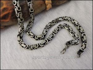 Byzantine necklace chain Fitness jewelry Gift coach