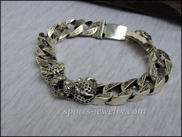 Leopard bracelet Silver