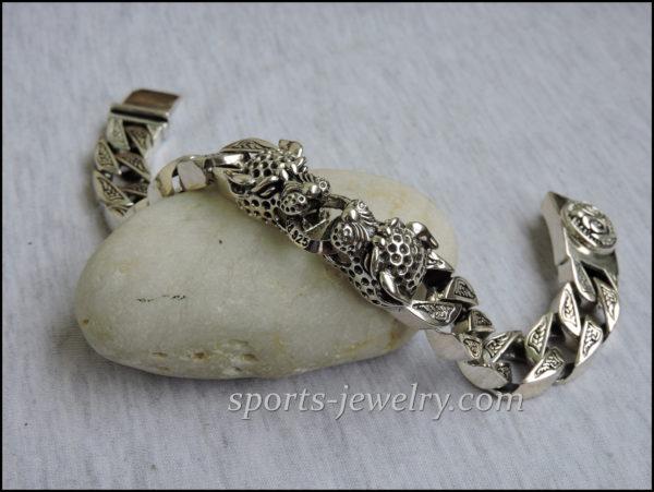 Silver Leopard bracelet