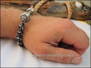 Skull dumbbell bracelet Gym gifts
