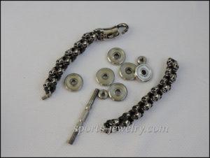 Skull dumbbell bracelet Stainless steel (2)