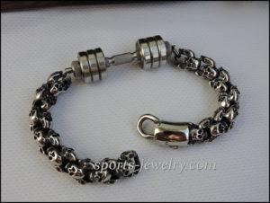 Skull dumbbell bracelet Stainless steel