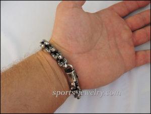 Sport jewelry Skull dumbbell bracelet