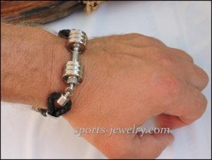 Sport jewelry Thor's hammer bracelet leather cord
