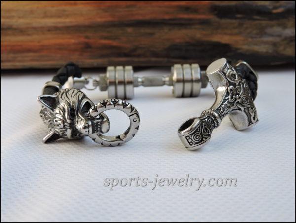 Stainless steel Thor's hammer bracelet