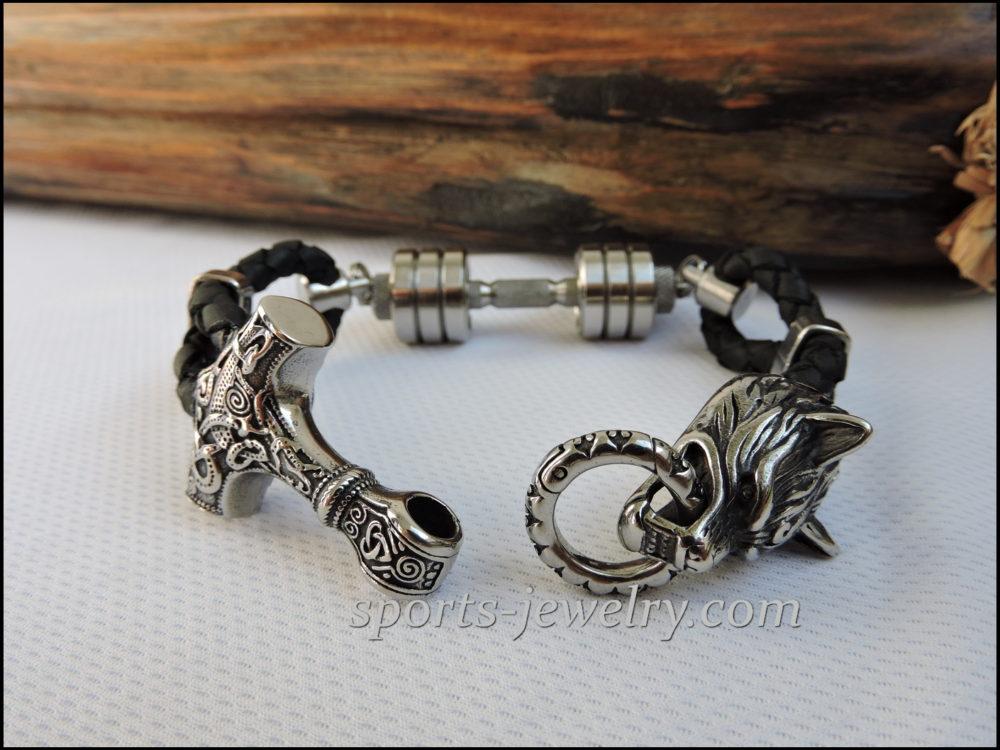 Thor's hammer bracelet Sport jewelry