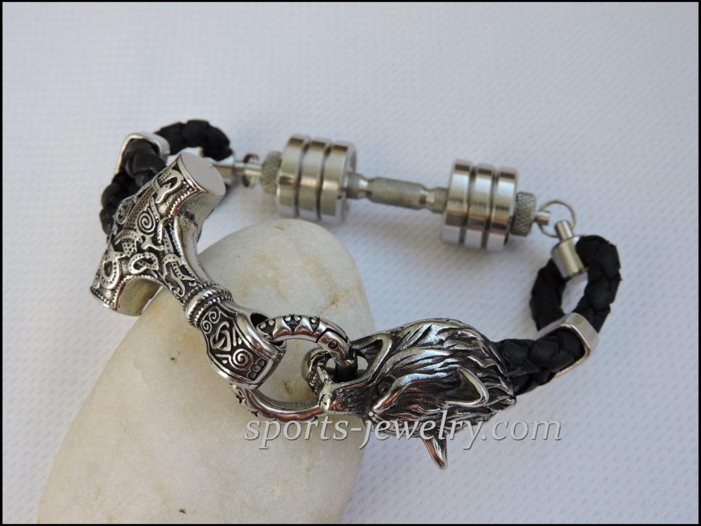 Thor's hammer bracelet image