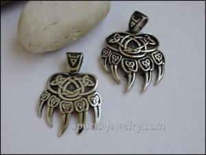 Bear paw necklace steel