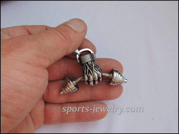 Dumbbell in hand pendant