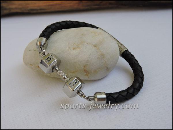 Fitness gift Sport bracelet leather
