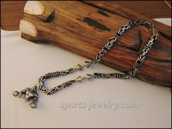 Gorilla pendant wear Gym necklace