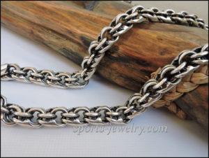 Silver big chain photo