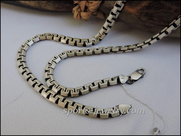 Silver chain men women photo