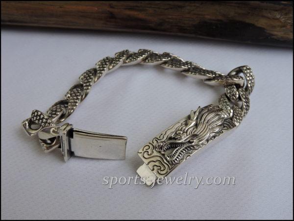 Silver dragon bracelet photo