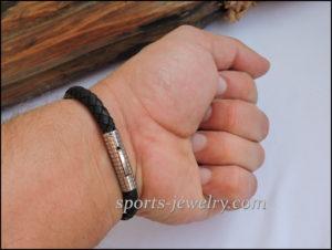 Sport bracelet leather stainless steel Fitness gift 01