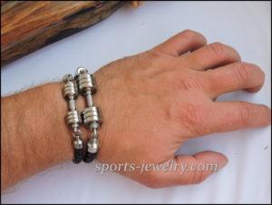 Sport bracelet leather stainless steel Fitness gift 03