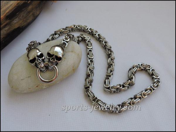 Stainless steel skull chain