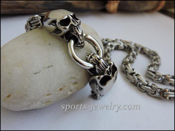 Stainless steel skull chain buy